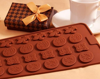 Silicone Carving Flower Cake Decorating Chocolate Soap Mold