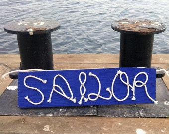 17x5 Wooden Board with Rope Letters