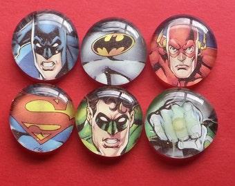 Super hero inspired glass magnets