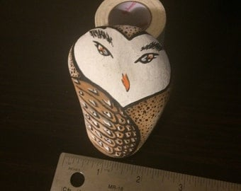 Owl Painted Rock 1