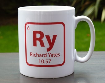 Chemical Element Personalised Mug with your name and date of birth