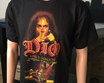 1993 Vintage \\ DIO // Live in London Tour shirt 90s Old school Mens size Large