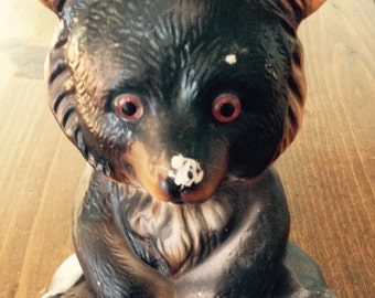 Vintage Bear Bank(1960's Ceramic Children's Bank)