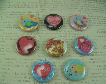 Button Magnets, Love Magnets, Heart Magnets, Bird Magnets, Refrigerator Magnets, Office Magnets, Magnet, Nature Magnet