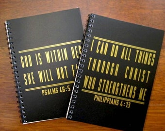 Workout Journal, Faith, Workout log book, GOLD, 5x7, fit gift