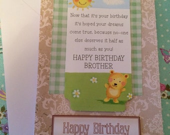 Happy birthday sentiment for brother