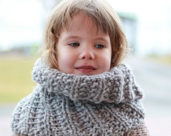 Knitting pattern, patron tricot - Karen Cowl, Tour de cou, Neck warmer ( 12/18 month - Toddler - Child – Teen- Adult sizes)