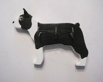 Boston Terrier leash holder