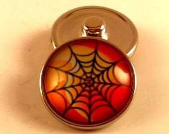 Spider Web Halloween Snap Charm