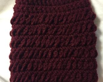 Burgundy Crochet Boot Cuff