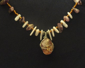 Amethyst/Mixed Stones Necklace