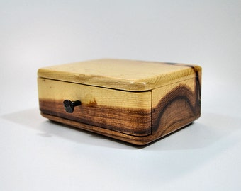 Small hickory trinket box