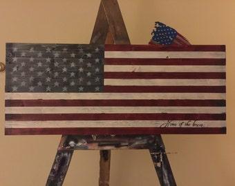 Primitive US Flag