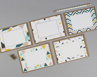 Skandi Blank Notecard Set - Pack of 10, Notecard Set, Letter writing set