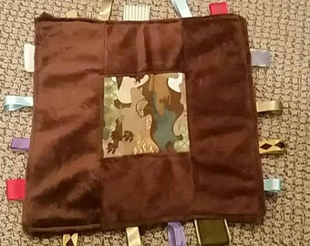 Minky and flannel baby rag quilts