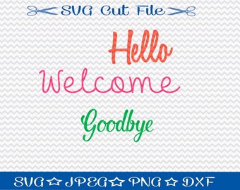 Front Door SVG File / SVG Cutting File for Silhouette / Welcome svg file