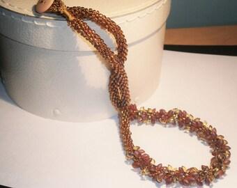 Kumihimo Beaded Necklace