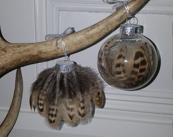 Real Feather Baubles