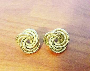 Chunky 80s Gold Earrings