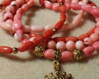 Coral Crowning 5 piece Bracelet Set #99-35
