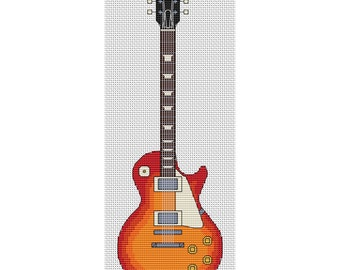Les Paul Sunburst Guitar Cross Stitch Design by Elite Designs