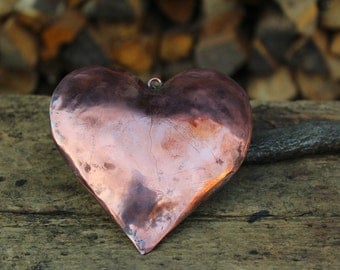 Handmade copper heart