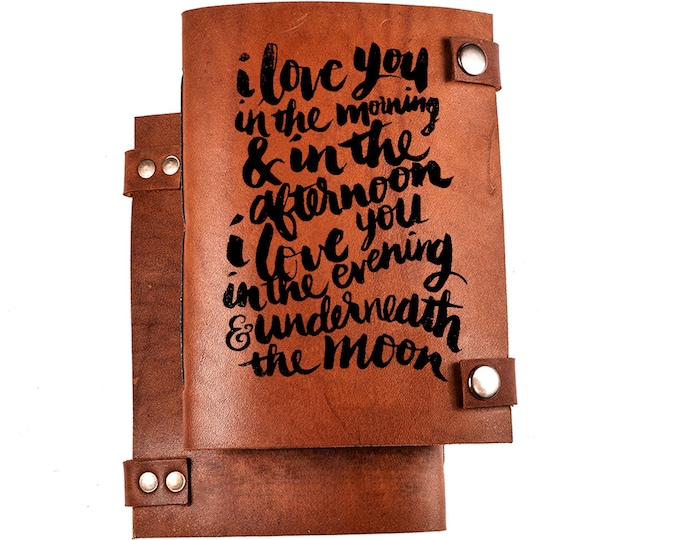 I love you notebook - love gift - leather journal - valentine's gift - romantic gift - love journal - love notebook - I love you sketchbook