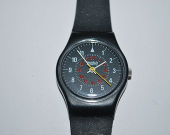 1985 Vintage Swatch Watch Lady LB 105 NICHOLETTE Free Shipping Free Battery Classic 1980's Watch