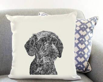 Wire Haired Dachshund Printed Cushion Cover Dog Lover Gift Birthday