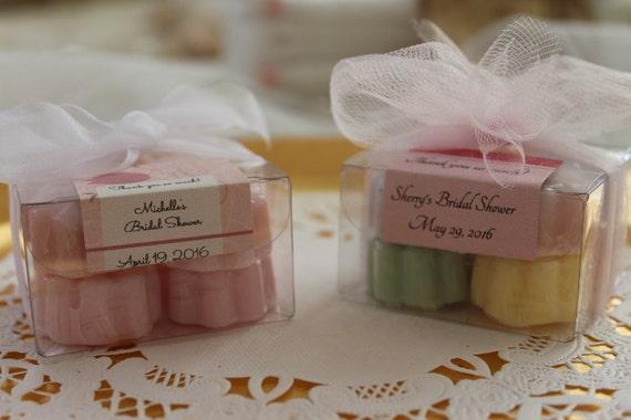 Flowers For Bridal Shower Favors : Flower soap favors wedding bridal shower