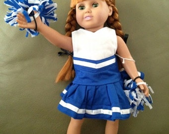 Cheerleading Outfit and Pom Poms