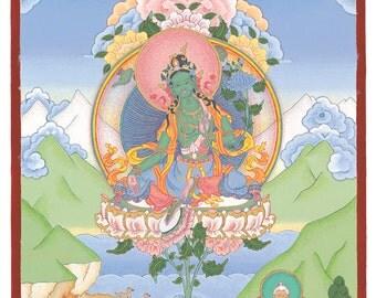Ayra Tara (Green Tara) Giclée print