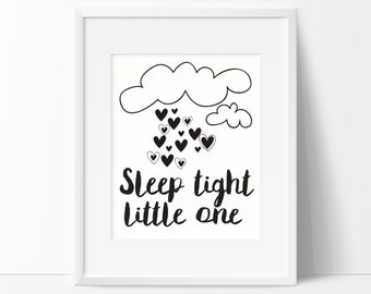 Sleep Tight Little One Nursery Printable Wall Art