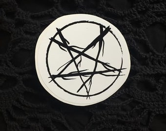 Babe Coven Pentacle Vinyl Stickers