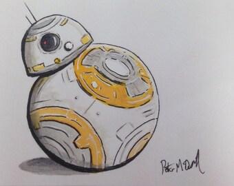 BB8 - Original Watercolour Art