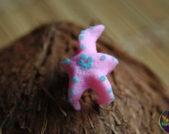 "Bead for dreads ""Pink Starfish"". Beads for dreadlocks. Dreads accessories. dreads bead dread coil dreads jewelry"