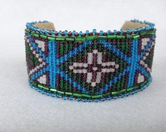 Native American Beaded Bracelet Cuff