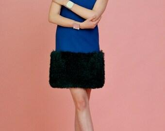 Little blue fur dress by MODNELI