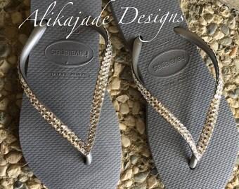 Havaianas Women's Flips Flops with Swarovski Crystals
