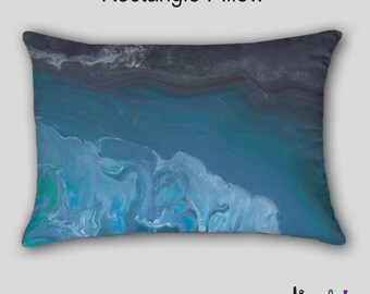 Sofa cushion, Decorative Pillow Cover Case, Turquoise blue teal, Aqua gray, Accent, Abstract art, Throw pillow, Designer Home decor, Couch