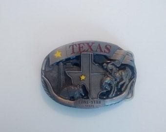 Vintage Texas Lone Star Belt Buckle