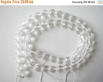 "10% SALE 4mm faceted clear crystal round beads 16"" strand 8257"