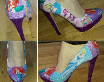 mixed princesses shoes