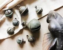 Set of 8 Vintage Indian Bells Handcrafted In Brass, Vintage Cow Bells, Interior Decoration, Brass Bells
