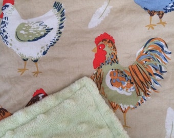 Chickens baby blanket