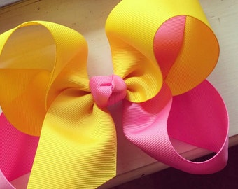 Twisted Two-toned boutique hair bow