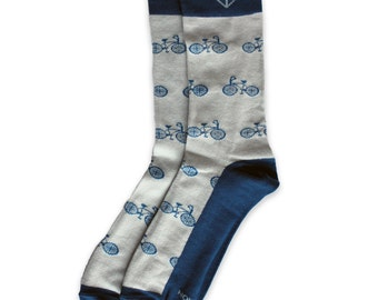 Men's Bicycle Patterned Socks