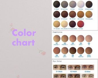 Color Chart For Eyes Hair, Skin