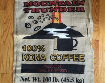 Mountain Thunder Kona Coffee Burlap Sack