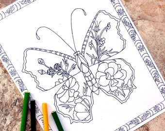 Garden Animals Coloring Pages : Stuffed animals coloring pages adult coloring page teddy